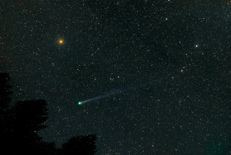 A comet with an atmosphere the size of Jupiter comes close to Earth