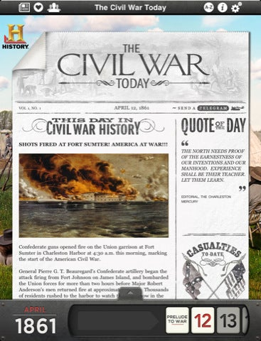 You Might Actually Learn Something With History Channel's Civil War iPad App