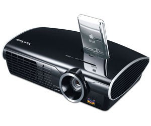 Viewsonic ipod docking pj258 projector for Ipod projector