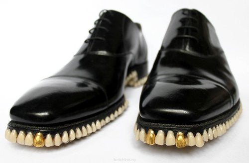 One Pair of Oxfords + 1,050 Teeth = Shoes That Devour the Sidewalk