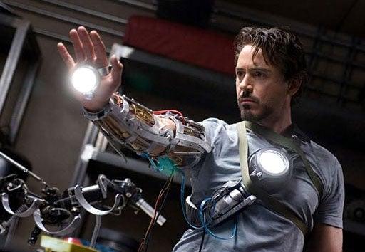 "Iron Man Says, ""Talk To The Glowy Hand"""