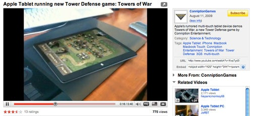 iPhone App Developer Uses Fake Tablet Video to Promote their Crappy Game