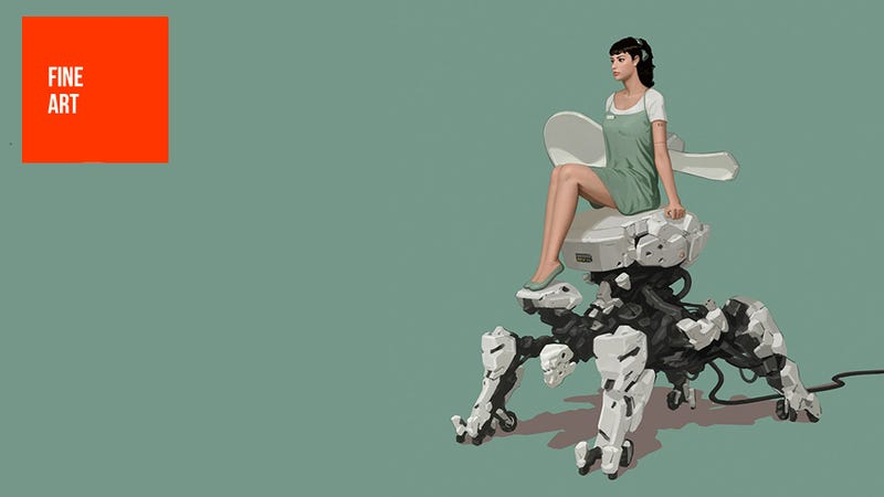 In the Future, Lady Robots Will Ride Regular Robots