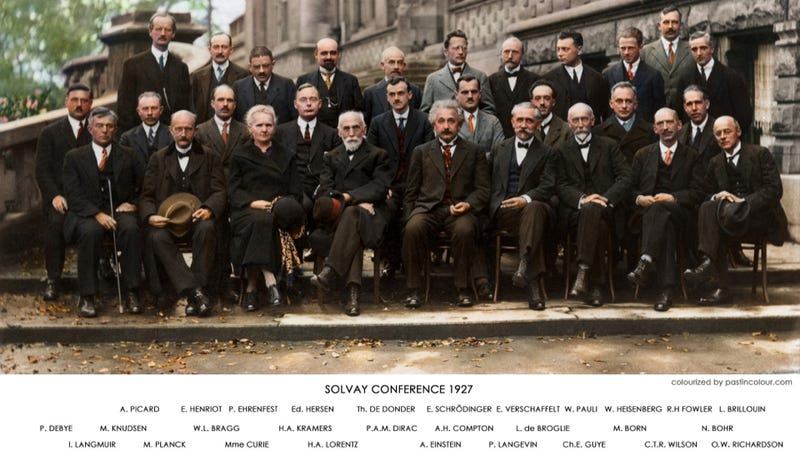 Twenty-nine of history's most influential scientists in one photograph - now in color!