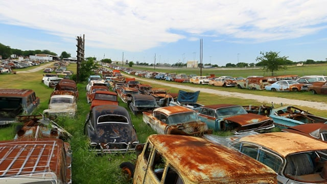 Tour a junkyard full of vintage iron from the comfort of home