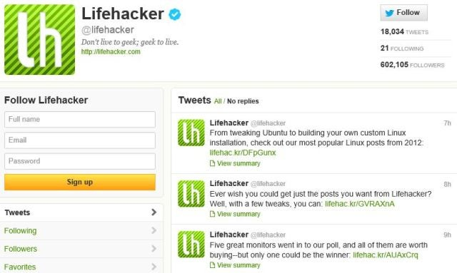 Follow Lifehacker on Twitter to Get All Our Stories in Your Feed