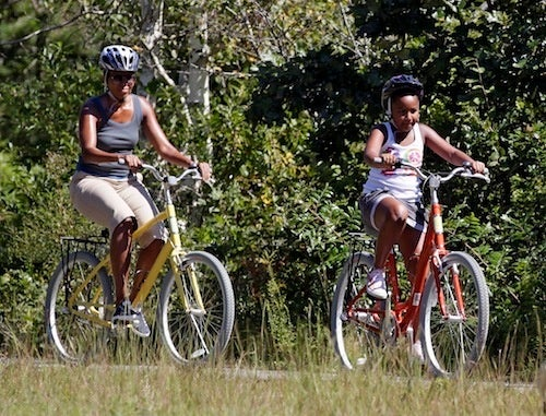 Mobama And Sasha Tackle The Tour De...Vineyard?