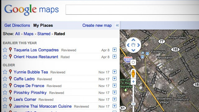 "Google's New ""My Places"" Feature Makes Starring and Reviewing Places Useful"