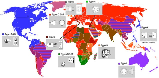 Giz Explains: Why Every Country Has a Different F#$%ing Plug