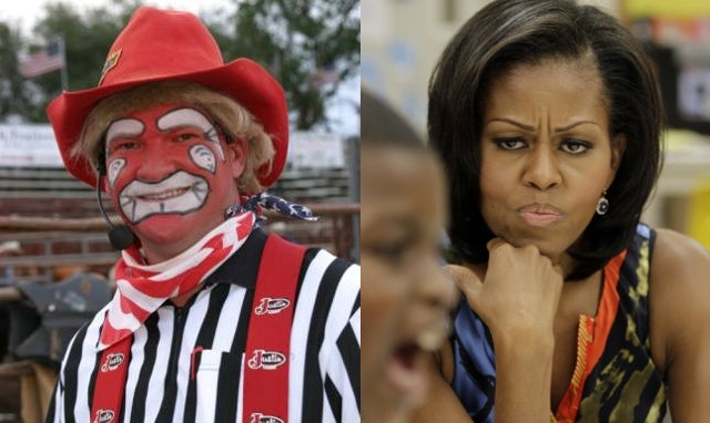 Rodeo Clown Tells Spectators Horribly Racist Michelle Obama Joke