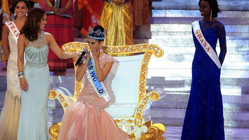 Miss World Gets a Fancy Throne and Everything