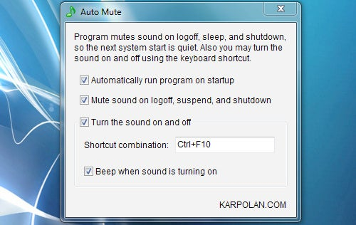 Auto Mute Saves You Embarrassment by Quieting Your Startup