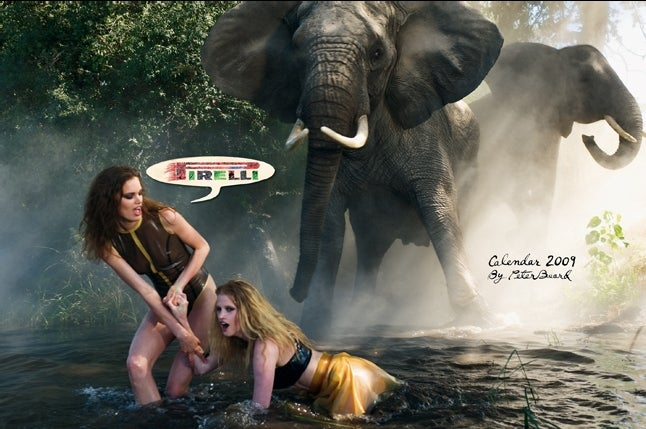 2009 Pirelli Calendar: Elephants And A Whole Load Of NSFW