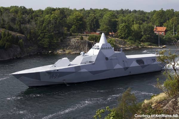 Swedish Visby-Class Corvette Is First Operational Stealth Ship in the World