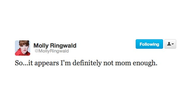 Molly Ringwald Cannot Hang With Attachment Parents