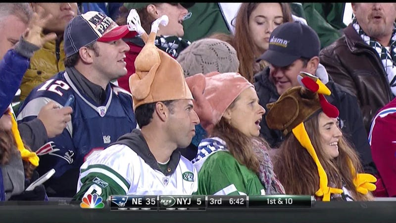 Last Night's NFL Broadcast Featured A Lot Of Jets Fans Who Were Pissed Off, Ridiculously Dressed, Or Both