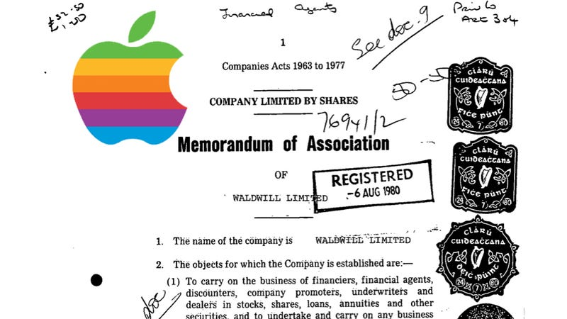 Here's the Document that Started Apple's Hidden Irish Tax Scheme