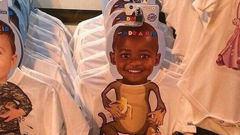 Yikes: Clothing Company Pairs Black Child's Face with Monkey Body [UPDATE]