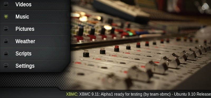 XBMC 9.11 Alpha Improves Playback and Skinning Powers
