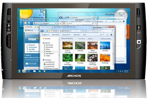 Archos' Latest Touch Tablet, the Archos9, Runs Windows 7