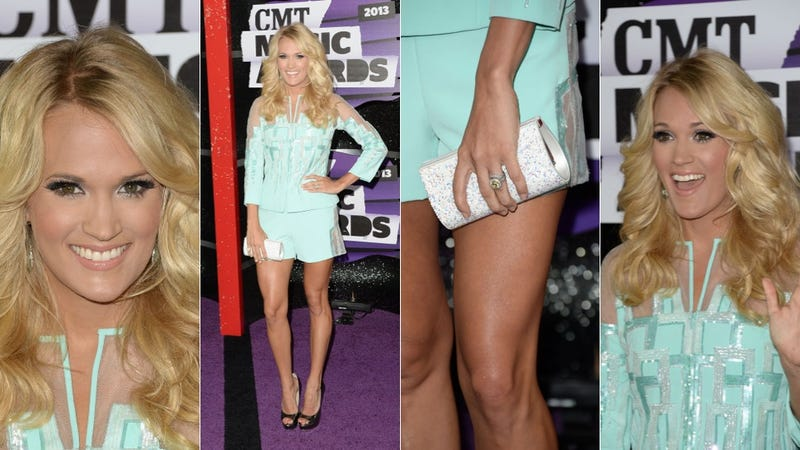 Short, Shiny Dresses and Cool Shoes at the CMT Awards