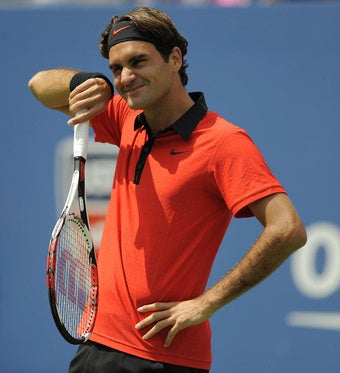 Roger Federer Has Some Stylish Competition
