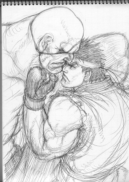 Pencils Out For This Street Fighter IV Concept Art