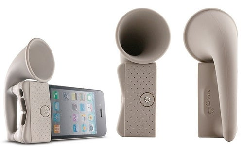 No Cranking (or Hearing Aids) Necessary with This iPhone Gramophone Amplifier