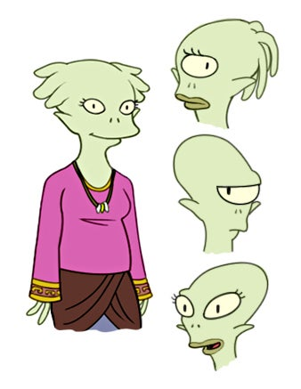 Adorable character designs for Futurama: The Next Generation