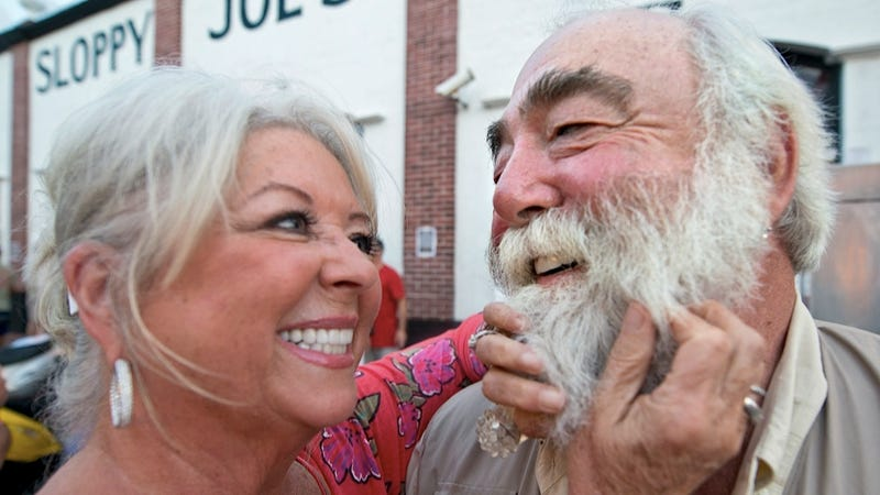 Paula Deen Got a Little Fresh Checking Her Husband's Beard for Lice