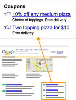 Google School: Find local business coupons