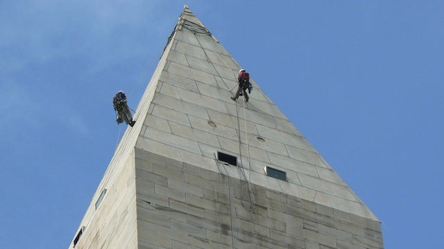 Why Are These People On Top of the Washington Monument?