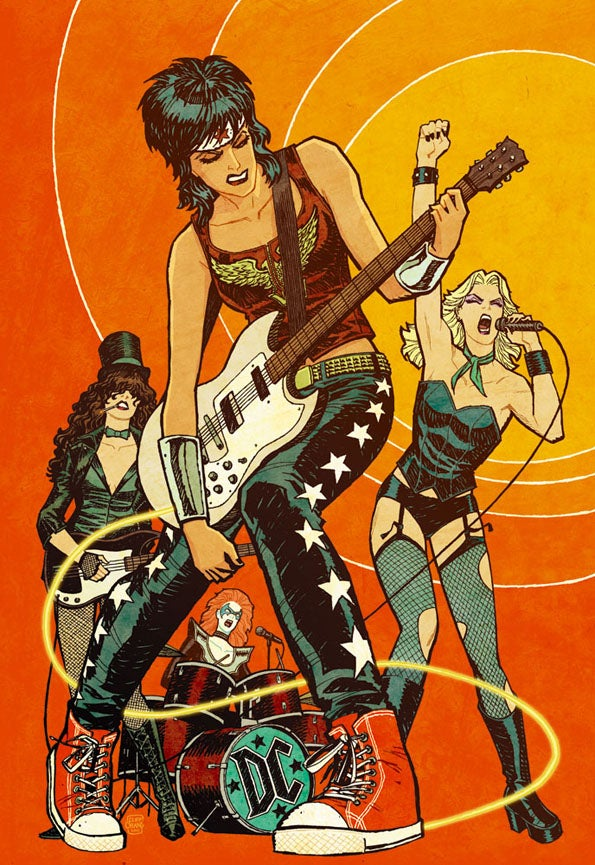 DC superheroines rock out as the Runaways
