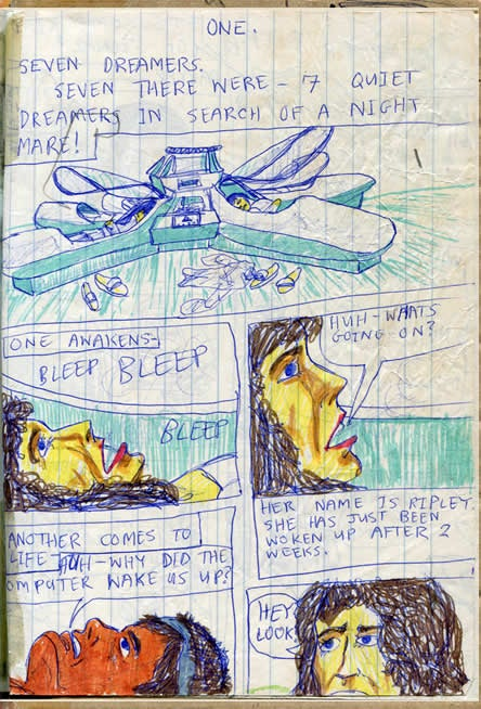 Alien, as written by an 11-year-old who never saw the movie before
