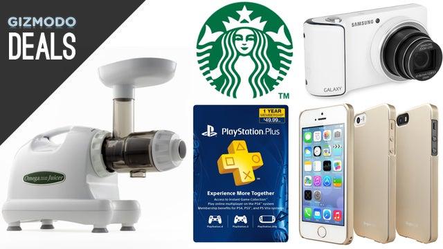 Deals: $5 Phone Cases, the Best Juicer, Half Price Starbucks