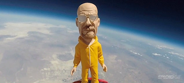 Walter White gets high*
