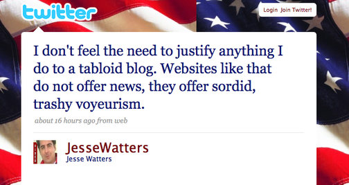 Please Keep Twittering About Us, Jesse Watters UPDATED