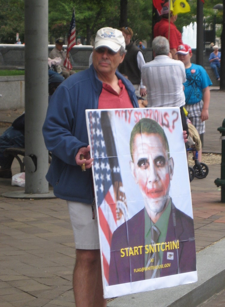 Teabagged: 9/12 Project Protest Brings Out American Psychos