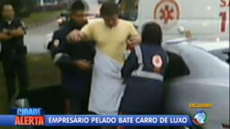 Half-naked Brazilian punk drunkenly crashes Camaro