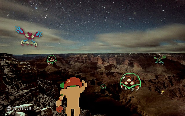 Classic Video Games With Real-Life Backdrops Are Delightful