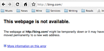 Bing Experienced a 30-Minute Outage This Morning; Did You Notice?