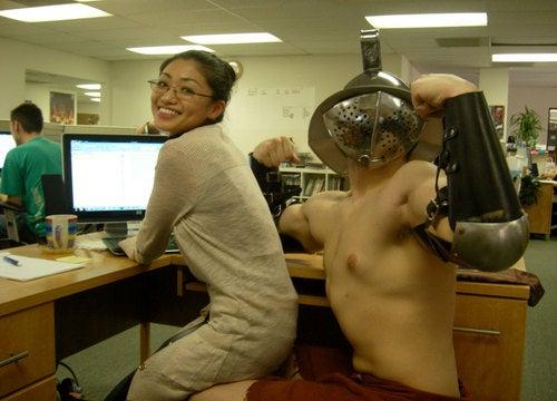 The American Version of Gladiator Begins Office Hijinks