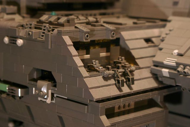 This insane 7-foot Lego Halo spaceship took 4 years to build