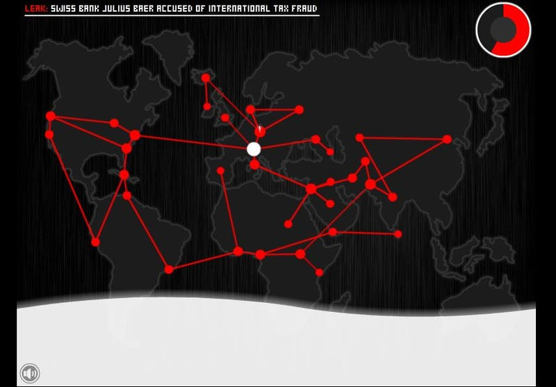 An Interactive Interpretation of WikiLeaks' Theory of Conspiracy by Governance
