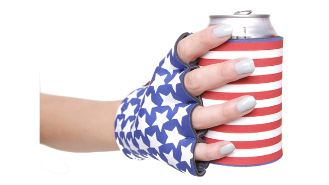 Keep Your Beer Cold and Your Hand Warm With This Koozie-Like Thing Made of 100 Percent Patriotism