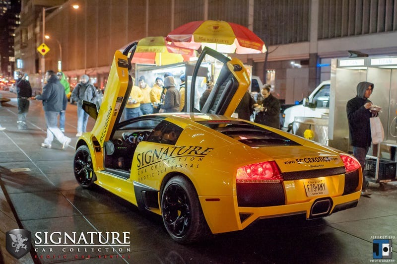 The Lamborghini Murcielago LP640 And The Best Halal Cart In NYC