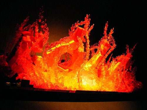 Lego Flames Spell Out Creator's Name and Actually Looks On Fire Gallery