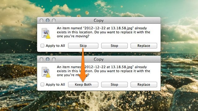 "Enable the Hidden ""Keep Both"" Button When Copying Files in OS X"