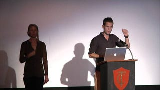 Interpreter nearly steals show from The Oatmeal's Matt Inman at Bad Ad-Hoc Hypothesis Festival