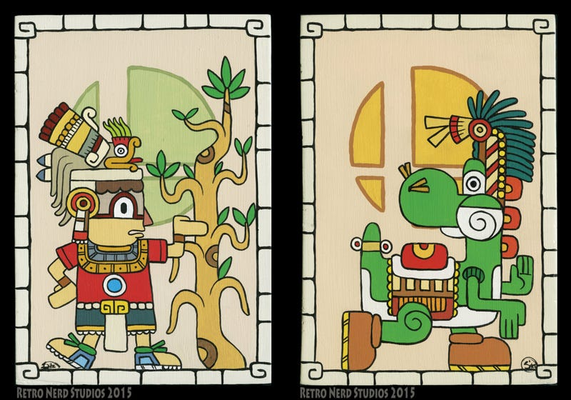 Artist Re-imagines Smash 4 Characters In Mayan Style